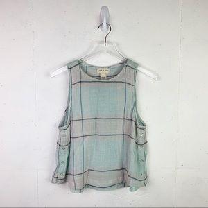 Cloth + Stone Plaid Top (NWOT)